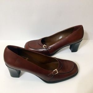 FRANCO SARTO Rich Brown Leather Heels 8M